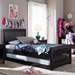 Baxton Studio Hevea Twin Size Dark Brown Solid Wood Platform Bed with Guest Trundle Bed - IEBed3-Twin-Wenge