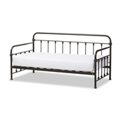 Baxton Studio Elsie Antique Dark Bronze Metal Daybed Baxton Studio restaurant furniture, hotel furniture, commercial furniture, wholesale bedroom furniture, wholesale beds, classic twin size bed