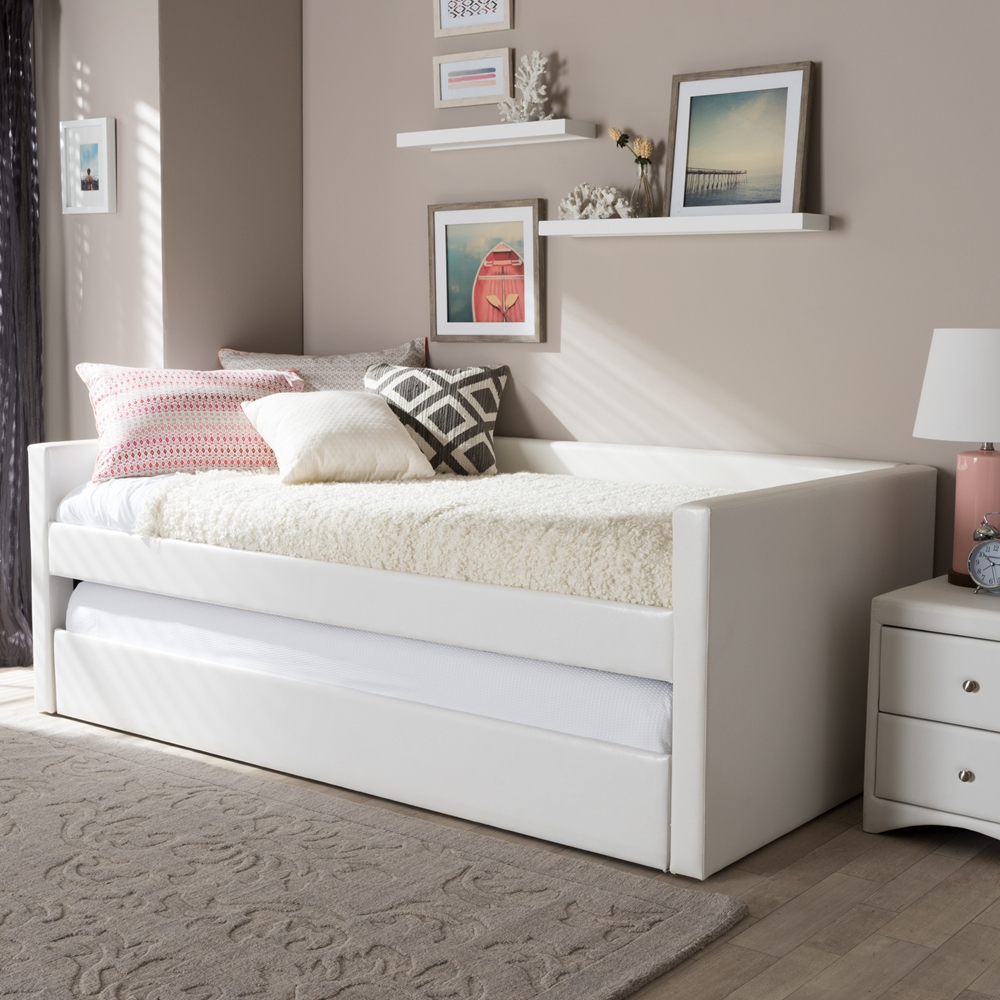 Baxton Studio Risom Modern And Contemporary White Faux