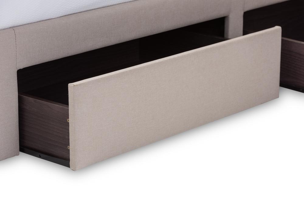 Baxton Studio Rene Modern And Contemporary Beige Fabric 4