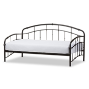 Baxton Studio Olsen Vintage Inspired Black Metal Daybed Baxton Studio restaurant furniture, hotel furniture, commercial furniture, wholesale bedroom furniture, wholesale beds, classic twin size bed