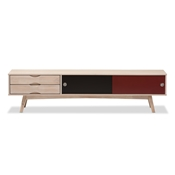 Baxton Studio Foxhill Mid-Century Modern Scandinavian Inspired Multi-colored Solid Rubberwood TV Stand Baxton Studio restaurant furniture, hotel furniture, commercial furniture, wholesale living room furniture, wholesale sofas & loveseats, classic sofa set