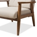 Baxton Studio Roxy Mid-Century Modern Walnut Wood Finishing and Light Beige Fabric Upholstered Button-Tufted High-Back Lounge Chair and Ottoman Set - IEBBT5265-Light-Beige Set