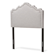 Baxton Studio Nadeen Modern and Contemporary Greyish Beige Fabric Twin Size Headboard Baxton Studio restaurant furniture, hotel furniture, commercial furniture, wholesale bedroom furniture, wholesale headboards, classic twin bed