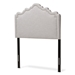 Baxton Studio Nadeen Modern and Contemporary Greyish Beige Fabric Twin Size Headboard - IEBBT6622-Greyish Beige-Twin HB-H1217-14