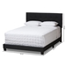 Baxton Studio Brookfield Modern and Contemporary Charcoal Grey Fabric King Size Bed - IECF8747B-Charcoal-King