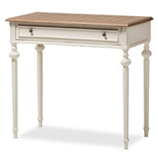 Baxton Studio Marquetterie French Provincial Weathered Oak and Whitewash Writing Desk Baxton Studio restaurant furniture, hotel furniture, commercial furniture, wholesale home office furniture, classic desks