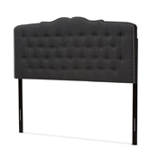 Baxton Studio Lucy Modern and Contemporary Dark Grey Fabric King Size Headboard Baxton Studio restaurant furniture, hotel furniture, commercial furniture, wholesale bedroom furniture, wholesale headboards, classic king bed