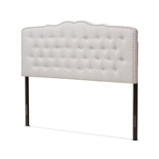 Baxton Studio Lucy Modern and Contemporary Greyish Beige Fabric King Size Headboard Baxton Studio restaurant furniture, hotel furniture, commercial furniture, wholesale bedroom furniture, wholesale headboards, classic king bed