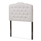 Baxton Studio Lucy Modern and Contemporary Greyish Beige Fabric Twin Size Headboard Baxton Studio restaurant furniture, hotel furniture, commercial furniture, wholesale bedroom furniture, wholesale headboards, classic twin bed
