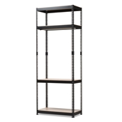 Baxton Studio Gavin Black Metal 4-Shelf Closet Storage Racking Organizer