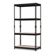Baxton Studio Cody Black Metal 4-Shelf Multipurpose Shelving Rack