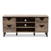 Baxton Studio Beacon Modern and Contemporary Light Brown Wood 55-Inch TV Stand - IEW-1516