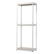Baxton Studio Gavin White Metal 3-Shelf Closet Storage Racking Organizer