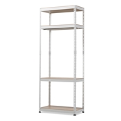 Baxton Studio Gavin White Metal 4-Shelf Closet Storage Racking Organizer