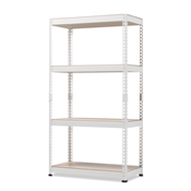 Baxton Studio Cody White Metal 4-Shelf Multipurpose Shelving Rack