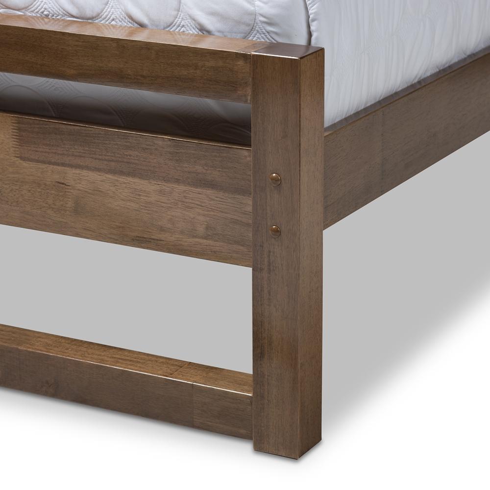 Lovely Baxton Studio Torino Mid-Century Modern Solid Walnut Wood Open  PA32