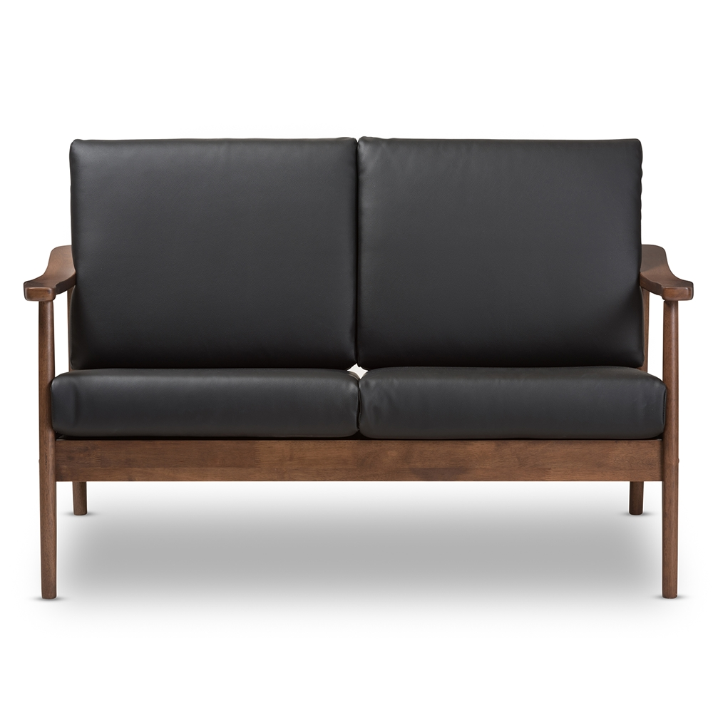 Baxton Studio Venza Mid Century Modern Walnut Wood Black