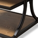 Baxton Studio Lancashire Rustic Industrial Style Oak Brown Finished Wood and Black Finished Metal End Table - IEYLX-0004-ET
