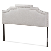 Baxton Studio Deena Modern and Contemporary Greyish Beige Fabric King Size Headboard Baxton Studio restaurant furniture, hotel furniture, commercial furniture, wholesale bedroom furniture, wholesale headboards, classic king headboards