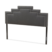 Baxton Studio Sophia Modern and Contemporary Dark Grey Fabric King Size Headboard Baxton Studio restaurant furniture, hotel furniture, commercial furniture, wholesale bedroom furniture, wholesale headboards, classic king headboards