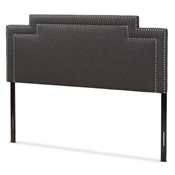 Baxton Studio Casey Modern and Contemporary Dark Grey Fabric Full Size Headboard Baxton Studio restaurant furniture, hotel furniture, commercial furniture, wholesale bedroom furniture, wholesale headboards, classic full headboards