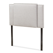Baxton Studio Ibbie Modern and Contemporary Greyish Beige Fabric Twin and Full Size Expandable Headboard Baxton Studio restaurant furniture, hotel furniture, commercial furniture, wholesale bedroom furniture, wholesale headboards, classic twin full headboards
