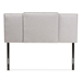 Baxton Studio Ibbie Modern and Contemporary Greyish Beige Fabric Twin and Full Size Expandable Headboard - IEBBT6688-Greyish Beige-Twin/Full HB-H1217-14
