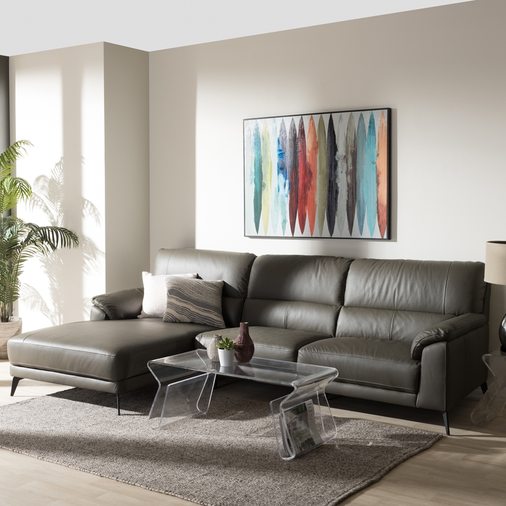 gray and dark brown living room baxton studio radford modern and contemporary grey 24481