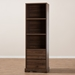 Baxton Studio Burnwood Modern and Contemporary Walnut Brown Finished Wood 2-Drawer Bookcase - IEBC 1860-23-Brown