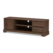 Baxton Studio Burnwood Modern and Contemporary Walnut Brown Finished Wood TV Stand Baxton Studio restaurant furniture, hotel furniture, commercial furniture, wholesale living room furniture, wholesale tv stand, classic tv stands