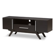 Baxton Studio Ashfield Mid-Century Modern Espresso Brown Finished Wood TV Stand Baxton Studio restaurant furniture, hotel furniture, commercial furniture, wholesale living room furniture, wholesale tv stand, classic tv stands