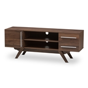 Baxton Studio Ashfield Mid-Century Modern Walnut Brown Finished Wood TV Stand Baxton Studio restaurant furniture, hotel furniture, commercial furniture, wholesale living room furniture, wholesale tv stand, classic tv stands