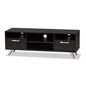 Baxton Studio Warwick Modern and Contemporary Espresso Brown Finished Wood TV Stand Baxton Studio restaurant furniture, hotel furniture, commercial furniture, wholesale living room furniture, wholesale tv stand, classic tv stands