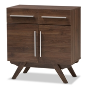 Baxton Studio Ashfield Mid-Century Modern Walnut Brown Finished Wood Sideboard Baxton Studio restaurant furniture, hotel furniture, commercial furniture, wholesale dining room furniture, wholesale sideboard, classic sideboard
