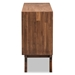 Baxton Studio Sierra Mid-Century Modern Brown Wood 3-Drawer Sideboard - IESierra-Rain Oak-Board