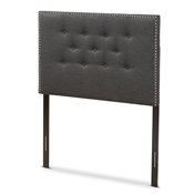 Baxton Studio Windsor Modern and Contemporary Dark Grey Fabric Twin Size Headboard Baxton Studio restaurant furniture, hotel furniture, commercial furniture, wholesale bedroom furniture, wholesale headboards, classic twin headboards