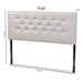 Baxton Studio Windsor Modern and Contemporary Greyish Beige Fabric Upholstered Queen Size Headboard - IEBBT6691-Greyish Beige-Queen HB-H1217-14