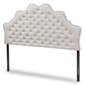 Baxton Studio Hilda Modern and Contemporary Greyish Beige Fabric King Size Headboard Baxton Studio restaurant furniture, hotel furniture, commercial furniture, wholesale bedroom furniture, wholesale headboards, classic king headboards