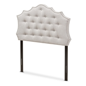 Baxton Studio Aurora Modern and Contemporary Greyish Beige Fabric Twin Size Headboard Baxton Studio restaurant furniture, hotel furniture, commercial furniture, wholesale bedroom furniture, wholesale headboards, classic twin headboards