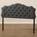 Baxton Studio Aurora Modern and Contemporary Dark Grey Fabric King Size Headboard - IEBBT6693-Dark Grey-King HB-H1217-20