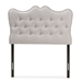 Baxton Studio Emma Modern and Contemporary Greyish Beige Fabric Twin Size Headboard - IEBBT6694-Greyish Beige-Twin HB-H1217-14