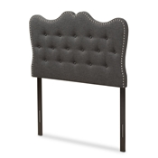 Baxton Studio Emma Modern and Contemporary Dark Grey Fabric Twin Size Headboard Baxton Studio restaurant furniture, hotel furniture, commercial furniture, wholesale bedroom furniture, wholesale headboards, classic twin headboards