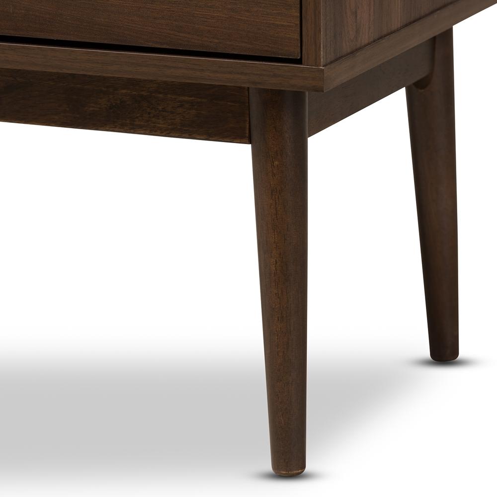 Baxton Studio Disa Mid-Century Modern Walnut Brown ...