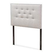 Baxton Studio Windsor Modern and Contemporary Greyish Beige Fabric Upholstered Twin Size Headboard Baxton Studio restaurant furniture, hotel furniture, commercial furniture, wholesale bedroom furniture, wholesale headboards, classic twin headboards