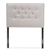 Baxton Studio Windsor Modern and Contemporary Greyish Beige Fabric Upholstered Twin Size Headboard - IEBBT6691-Greyish Beige-Twin HB-H1217-14