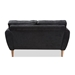 Baxton Studio Miranda Mid-Century Modern Dark Grey Fabric Upholstered Loveseat - IER2006-Dark Grey-LS