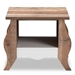 Baxton Studio Raynell Country Cottage Farmhouse White and Oak-Finished End Table - IECT902001-White/Oak-CT