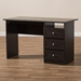Baxton Studio Carine Modern and Contemporary Wenge Brown Finished Desk - IEMH6013-Wenge-Desk
