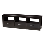 Baxton Studio Ryleigh Modern and Contemporary Wenge Brown Finished TV Stand Baxton Studio restaurant furniture, hotel furniture, commercial furniture, wholesale living room furniture, wholesale tv stand, classic tv stands